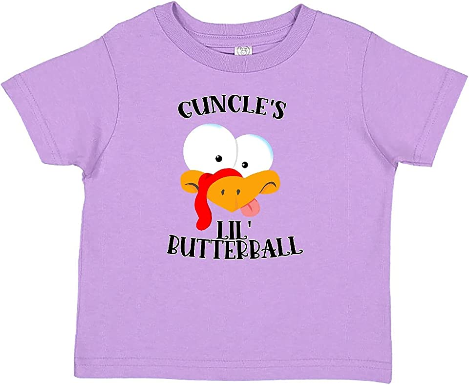 Thanksgiving Guncle's Lil' Butterball Cute Turkey Face Baby T-Shirt