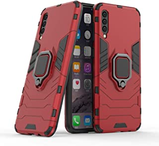 Compatible with Samsung Galaxy A50, Galaxy A50s, Galaxy A30s Case, Metal Ring Grip Kickstand Shockproof Hard Bumper (Works...