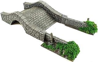 War World Gaming Battle Bocage Short Wall Hedgerows, Pillars & Bridge Set – 28mm Heroic Scale Wargaming Terrain Model Dior...