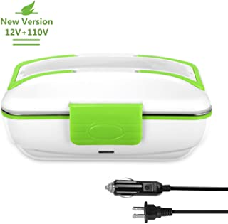 YOHOOLYO Electric Lunch Box Food Heater Warmer Portable for Both 12V Car and 110V Home Use with Removable Stainless Steel Container