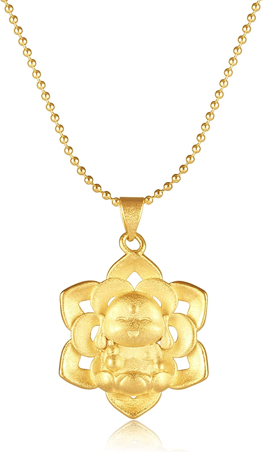 Buddha Necklace Womens Chain Long Stainless Steel Simple Dainty Gold Necklaces for Women