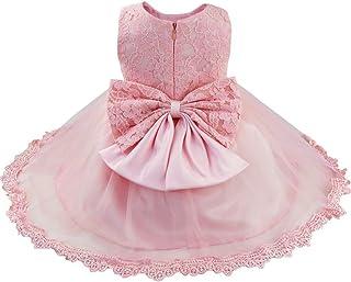 e1334b4a2b6ae iiniim Bébé Fille Lace Robe de Mariage Soirée Dentelle Tulle Robe de Princesse  Baptême Robe sans