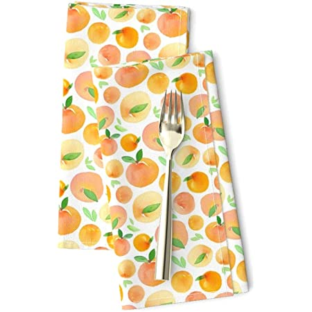 Watercolor Fruit Whimsical Pear Food Cotton Dinner Napkins by Roostery Set of 2