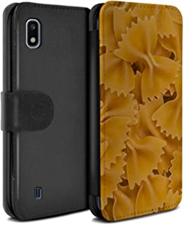 eSwish PU Leather Wallet Flip Case/Cover for Samsung Galaxy A10 2019 / Farfalle Pasta Design/Food Collection