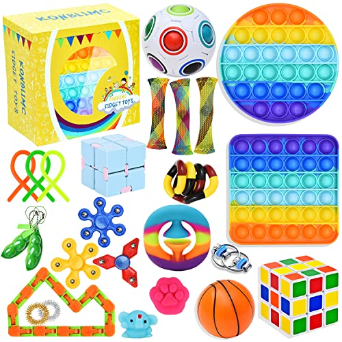 25 Pack Sensory Toys Set, Relieves Stress and Anxiety Fidget Toy for Children Adults, Special Toys...