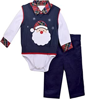 Bonnie Jean Boys Santa Sweater Pants Set 3 pc Set