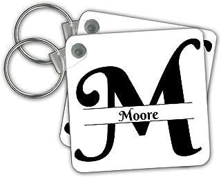 Bold Script Monogram M Moore 3dRose BrooklynMeme Monograms T-Shirts