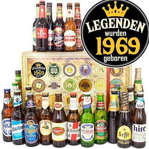Legenden 1969 / Geschenke für Ihn/Biere der Welt / 24x / Adventskalender Bier Männer