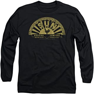 Sun Records Tattered Logo Adult Long-Sleeve T-Shirt