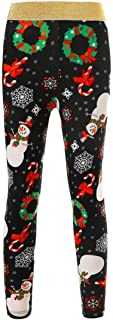 Christmas Mommy and Me Leggings Women Girls One Piece Snowman Long Trousers Pants