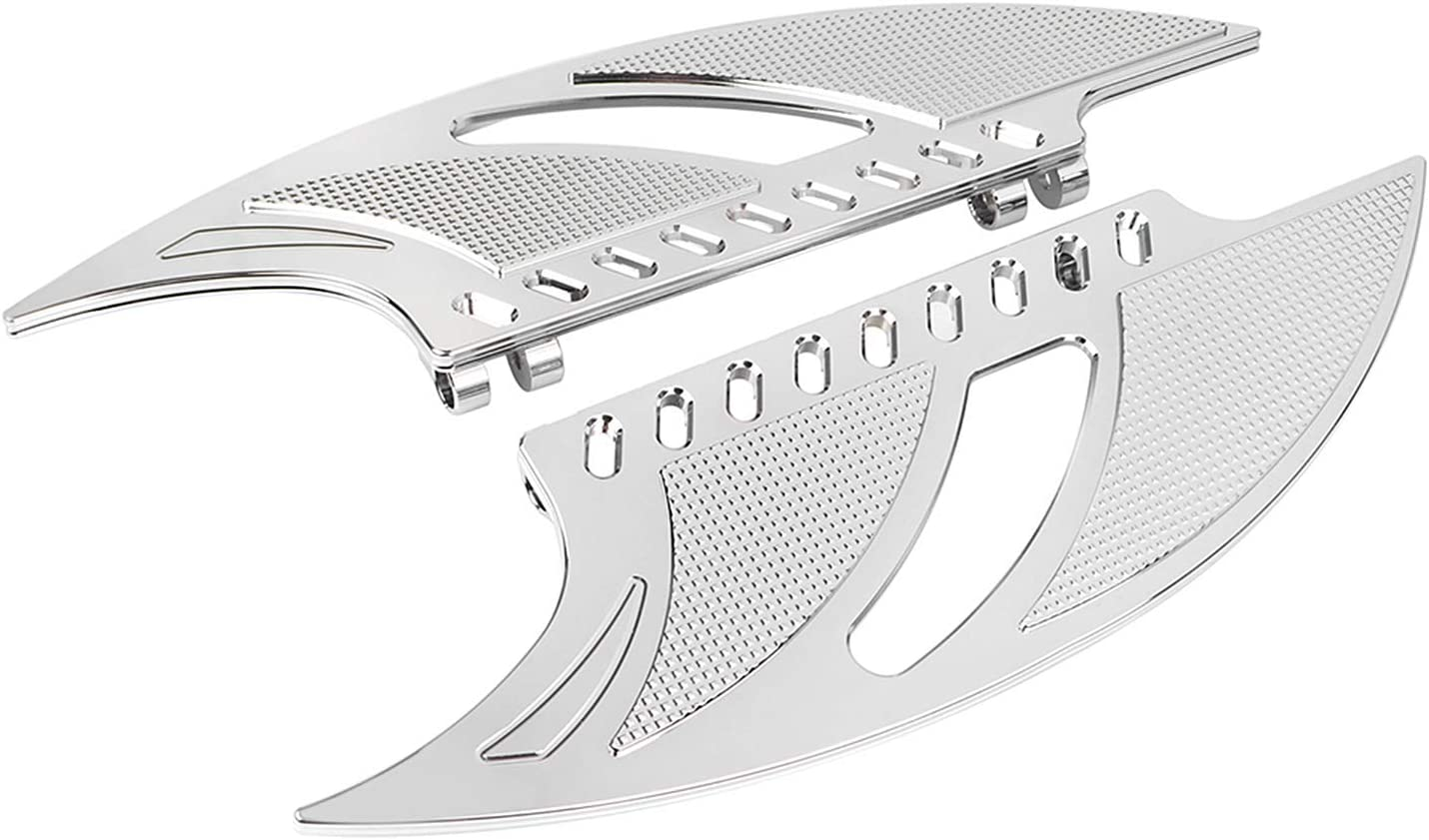 XMMT Repose-pieds avant en aluminium chrom/é CNC pour Harley Touring Electra Glide Street Glide Road King.