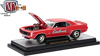 M2 Machines 1:24 Release 61B 1969 Chevrolet Camaro SS/RS Edelbrock Diecast Vehicle, Red
