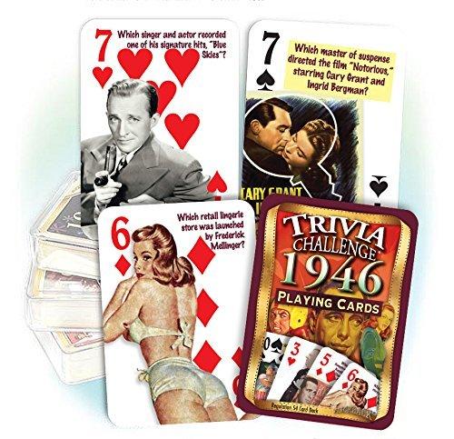 Flickback 1946 Trivia Playing Cards
