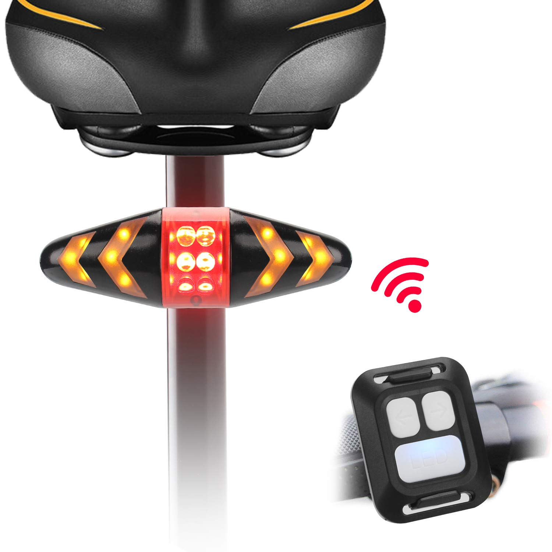 LIDIWEE Luz trasera para bicicleta, luces LED intermitentes para ...