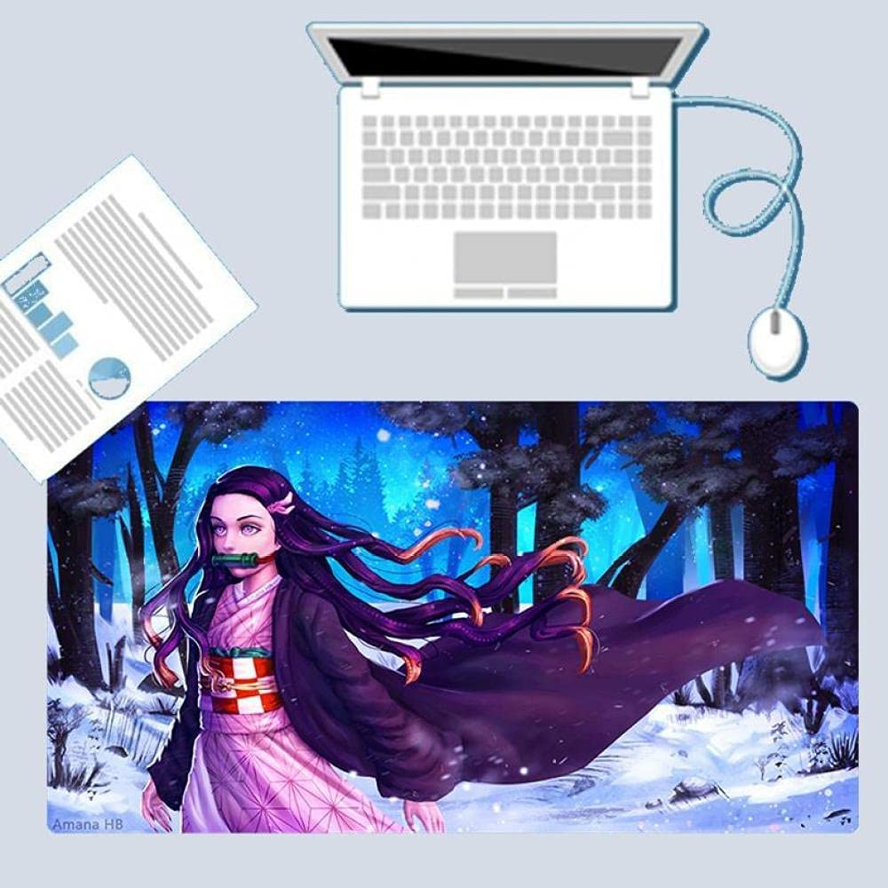 Challenge the lowest price of Japan Demon Slayer Mouse Pad Large Mousepad Gaming New mail order Waterproof Anime N