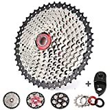 Bolany 【US Stock】 8/9/10/11 Speed Mountain Bike 11-40/42/46/50T Cassette, Gifts(CNC Adapter, Lock Cover), fit Shimano/SRAM/FSA/Campagnolo/KMC XC AM DH MTB 6/7/8/9/10/11S Chains (10 Speed,11-40T)
