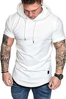 KINGOLDON Men's Summer Pleats Gradient Pattern Casual Fashion Lapel Short Sleeve Loose Shirt