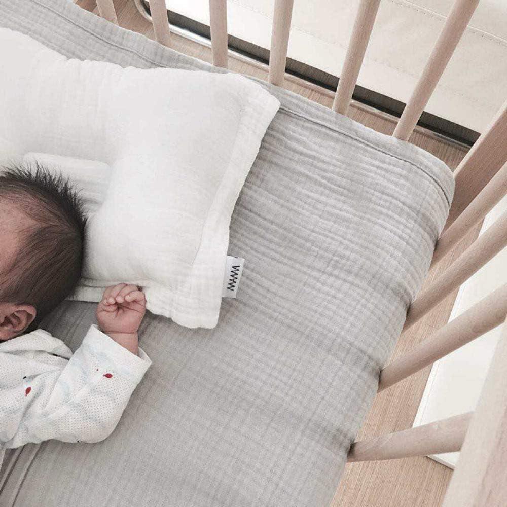 WPQBS Oreiller,Nouveau-né bébé Oreiller Pur Coton Gaze tête en Forme de Coussin d'allaitement Lavable bébé literie Chambre décor Dropship, Rose Blanc