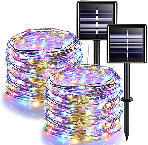 Solar Fairy Lights,JMEXSUSS Outdoor Solar String Lights,2 Pack 33ft 100 LED...