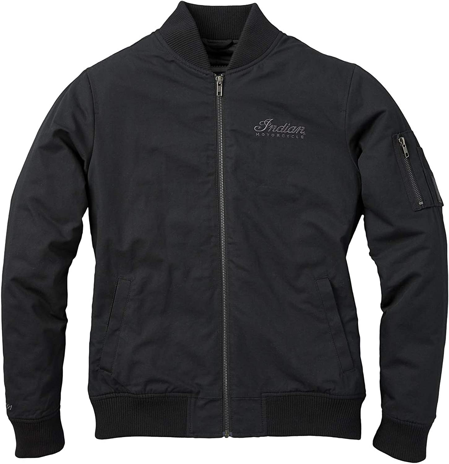 Indian Motorcycle Women's Casual Bomber Jacket, Black