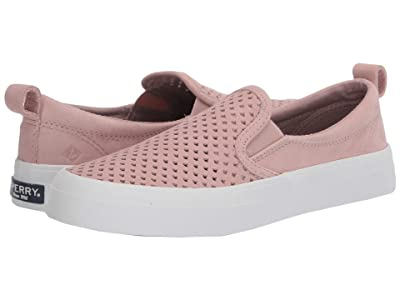 Sperry Crest Twin Gore Scalloped Perf (Rose Dust) Women
