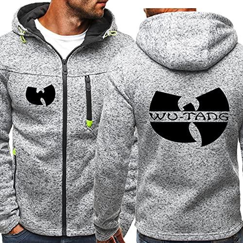 KJGLXD Sudadera con Capucha para Hombre Suéter impresión Wu-Tang Acolchado de Terciopelo Casual Juvenil Unisexo Cárdigan de Felpa Chaqueta Adecuado para el Invierno