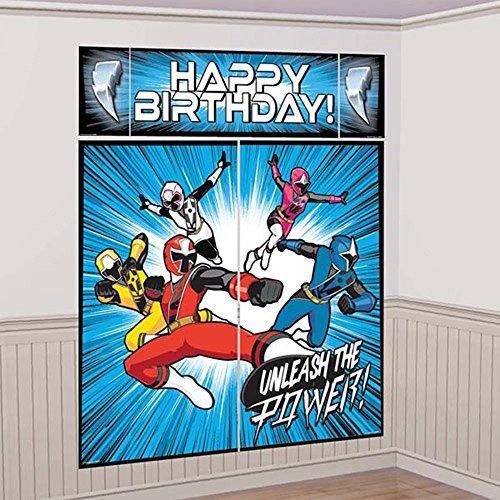 power ranger birthday banner - 7