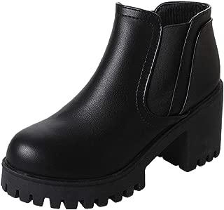 [ココマリ] 厚底 レディース ショートブーツ レインブーツ サイドゴア ヒール 靴 レイン シューズ 長靴 ショート丈 ブーツ