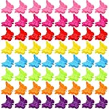 100 Packs Assorted Color Butterfly Hair Clips,...