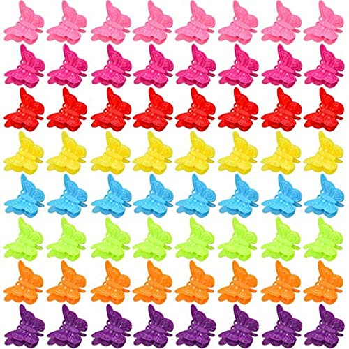 100 Packs Assorted Color Butterfly Hair Clips, Beautiful Mini Butterfly Hair Clips Hair Accessories for Women and Girls, Random Color