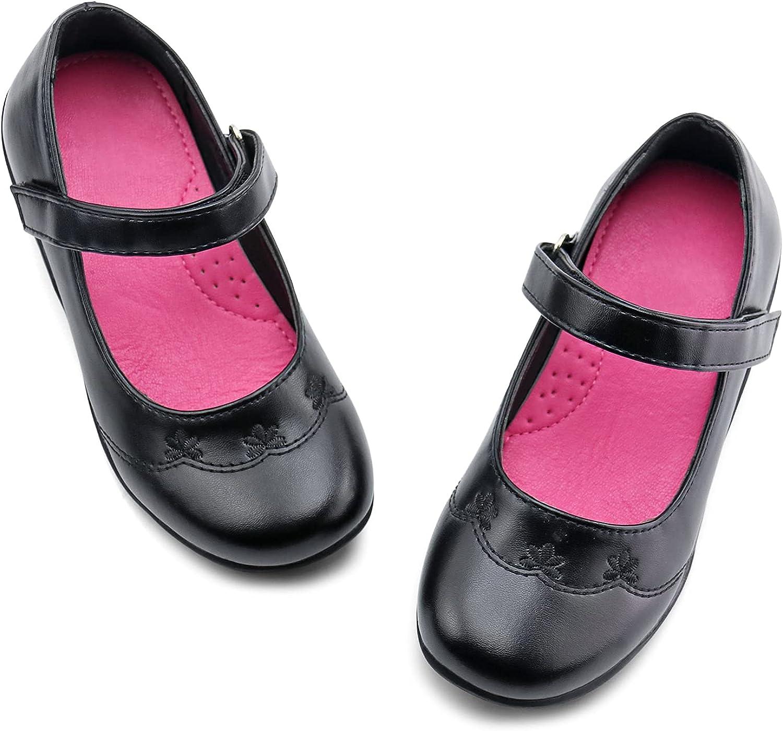 JABASIC Girls Product School Uniform Wedge Shoes Max 82% OFF Dress Black