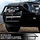 Armordillo 733469489375 Modular Pre-Runner Bumper Grille Guard with 32' 60x CREE LED Light Bar - Matte Black For 2016-2018 Toyota Tacoma