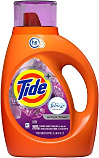 Tide HE Liquid Laundry Detergent, Spring & Renewal, 46 Ounce