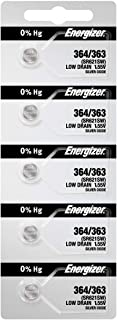 Energizer Watch Batteries 364 / 363 SR621SW Battery New 5 Pack