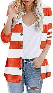 Mlide Women's Cardigans Long Sleeve Color Block Open Front Long Knit Sweater Loose Womens Outsear Long Sleeves Sweater Coats