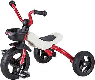 三輪車 折りたたみ 子供用 折りたたみ三輪車 U型ハンドル 組立なし オシャレ (レッド)