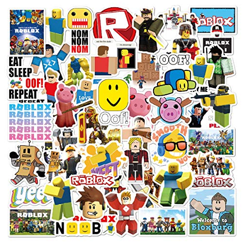 Video Game blox Stickers| 50 PCS | Vinyl Waterproof Stickers for Laptop,Bumper,Skateboard,Water Bottles,Computer,Phone, Kids Teens for Stickers