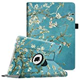Fintie Case for iPad Air 2-360 Degree Rotating Stand Protective Case Smart Cover with Auto Sleep/Wake Feature for iPad Air 2, Blossom