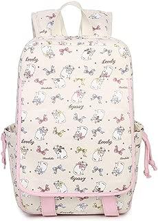 Girls School Bags for Teenagers Girl Schoolbag Canvas Bag Women Travel Bags Cute Cat Printing School Backpack Rucksack Bagpackbeige