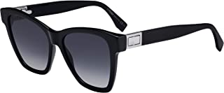 Fendi Women's FF 0289/S 807 BLACK S 55 Lens 9O DARK GREY SF Sunglasses