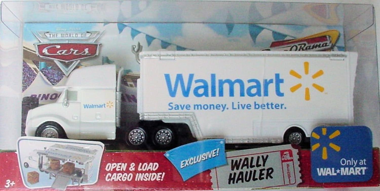 Disney Pixar - CARS - P3271 - THE WORLD OF CARS - RACE O RAMA - WAL-MART EXCLUSIVE Truck - WALLY HAULER - incl. Ladung - OVP