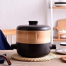Practical Casserole XLTCG Steam Pot Casserole Stew Pots - Household Soup Pot Ceramics, Top Can Be Steamed, Bottom Can Be B...