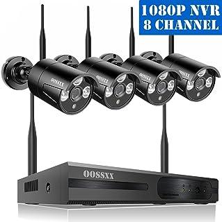 【2020 Nuevo】 Kit de Cámara Inalámbrica de Seguridad Sistema de Vídeovigilancia NVR 1080P 8 Canal Inalámbrico WLAN 4 720P IP Cámaras de Seguridad de Vigilancia WiFi Exterior Sin Disco Duro