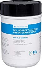 """FG Clean Wipes 96% Alcohol Wipes- Large 6"""" x 8.5"""" in Canister of 100 Wipes - 6-LS964-685"""