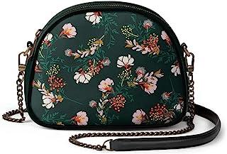 DailyObjects Lush Midnight Arch Sling Crossbody Bag for girls and women | Vegan leather, Stylish, Sturdy, Zip closure, wit...