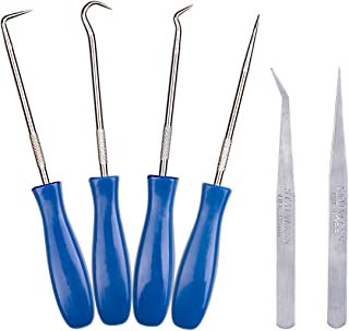 6 Pieces Stainless Steel Craft Vinyl Weeding Tools, ABUFF Precision Weeding Tools Kit for ORACAL, Siser, Silhouette, Cricut