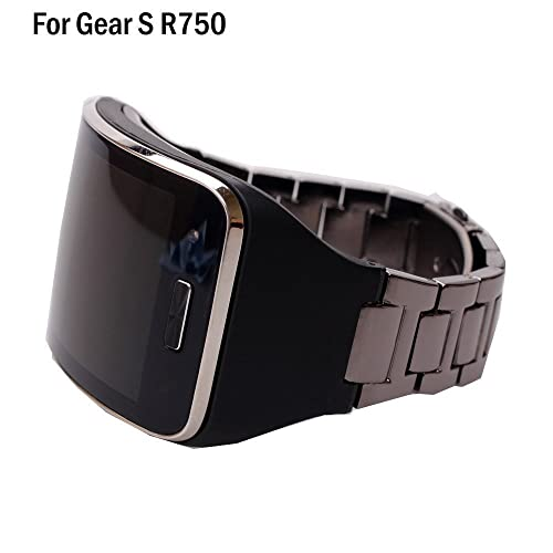 HWHMH 1PC Replacement Stainless Steel Metal Band/Genuine Leather Band Strap for Samsung Galaxy Gear