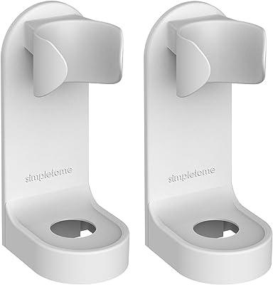 simpletome 電動歯ブラシホルダー ビスコース 歯ブラシホルダー 壁掛け 電気歯ブラシ カップホルダー 2個 (ABSプラスチック)