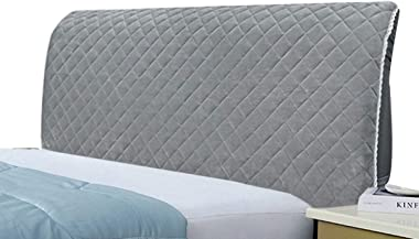 Polyester Fiber Elasticity Bed Headboard Cover Dustproof Stretch Bed Head Protector Cover Solid Color Bedroom Decoration (Col