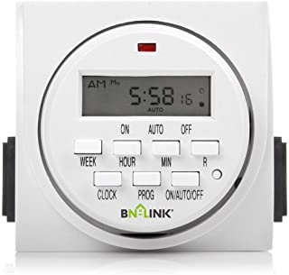 BN-LINK 7 Day Heavy Duty Digital Programmable Timer, FD60 U6, 115V, 60Hz, Dual Outlet,..